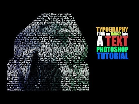 typography tutorial turn an image into text in photoshop youtube