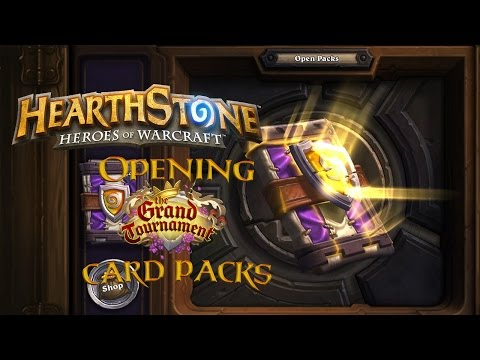 Hearthstone 250 Grand Tournament Cards! | Opening 50 TGT Packs