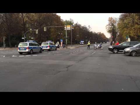 Pakistani Presidents Motorcade in Berlin