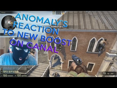 ANOMALY REACTION TO NEW BOOST ON CANAL