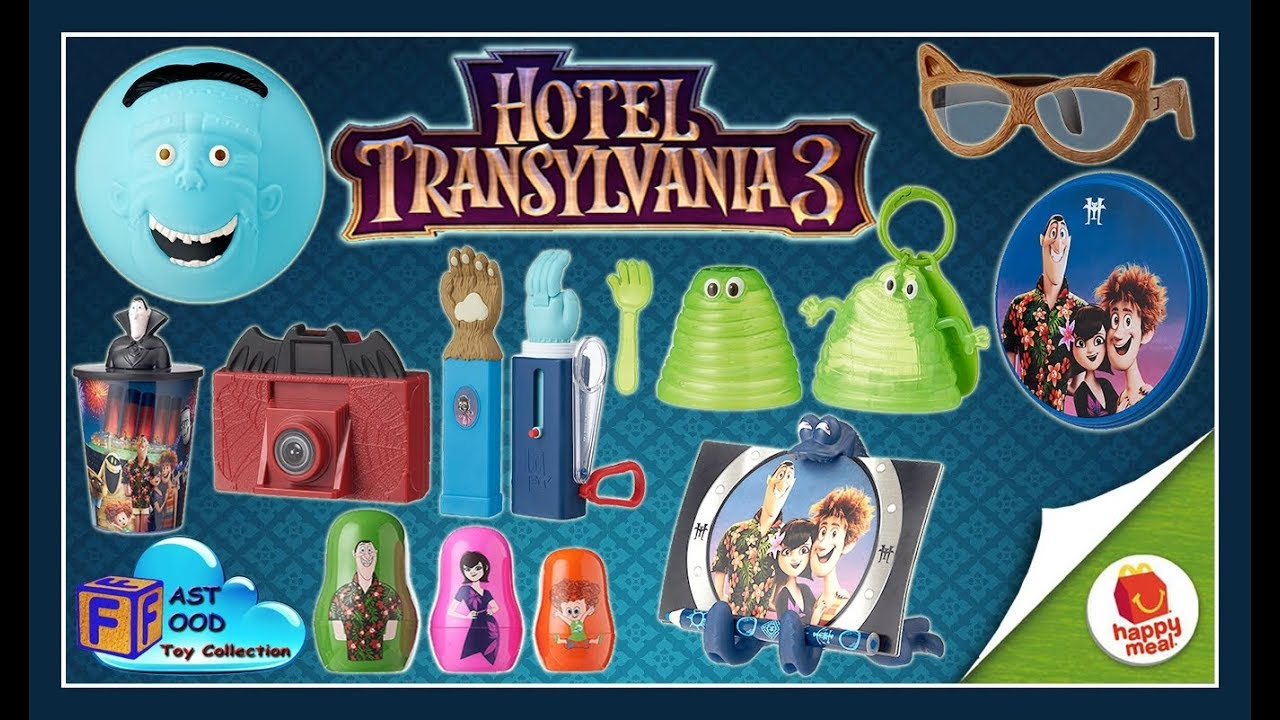 2018 McDonalds Hotel Transylvania 3 Happy Meal Toys Summer Vacation Movie
