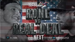 KOTD - Rap Battle - Real Deal vs Rone