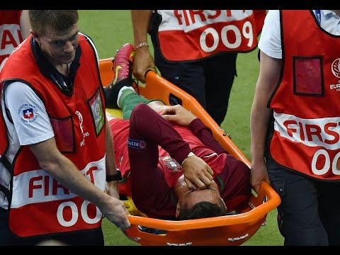 Cristiano Ronaldo Crying Injury ● Euro Final 2016 Final ● Full Video #RESPECT #TheLegend