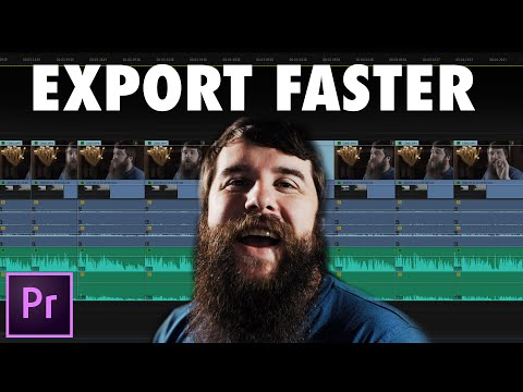Export Video 4X FASTER in Premiere Pro! (Works with Nvidia & AMD)