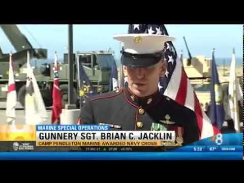 CBS covers Gunnery Sgt. Brian C. Jacklin receiving the Navy Cross