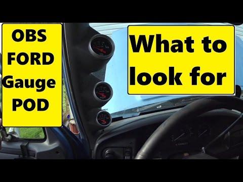 GlowShift 92-97 Ford F-150 F-250 F-350 Triple Pillar Gauge Pod