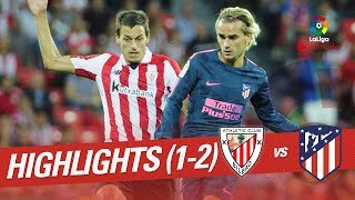 Resumen de Athletic Club vs Atlético de Madrid (1-2)