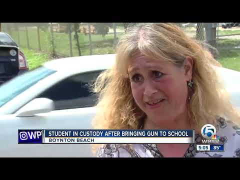 Student found with gun at Boynton Beach High School, 2 students arrested