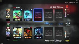 joinDOTA League #9 Asia - RIP The Dream vs Mousehunt Gaming cast by @Jhoday w/ @jojoKuN  part 1