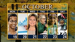 Calendar: Week of October 19