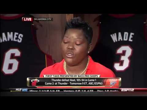 First Take Kevin Durant Mother Steals The Show Wanda Pratt