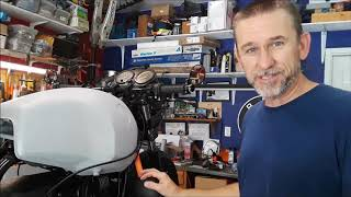 BMW R100R M-blaze turn signal and bar end mirror mock up