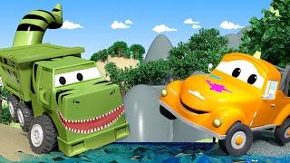 Ethan bir T-Rex - Tom'un boya dükkanı araba şehrinde 🎨 Çocuklar için çizgi filmler