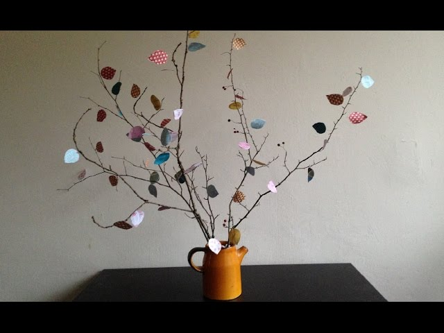 DIY Scrap Paper Tree tutorial table centrepiece