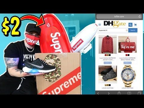 WHAT HYPEBEAST ITEMS CAN $100 BUY YOU ON DHgate! AND UNBOXING THEM