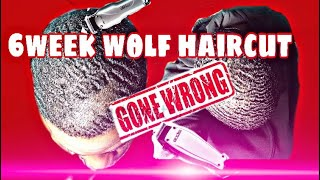 😭6 WEEKS WOLF HAIR CUT GONE WRONG😭