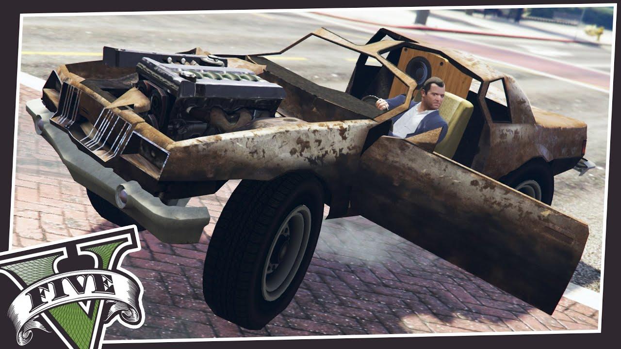 DRIVE SCRAP VEHICLES IN GTA 5! - YouTube