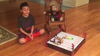 Ryan and Andrew's Toy Review featuring Mr. Monkey and WWE Wrestlers