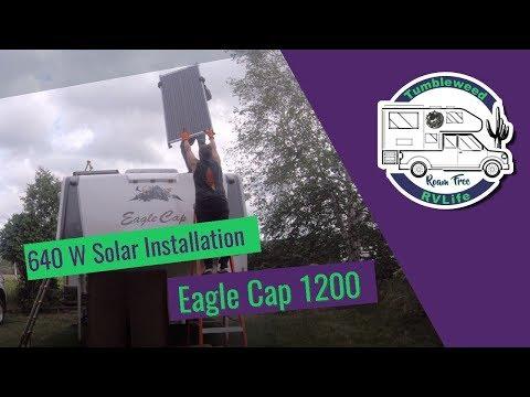 Solar Installation on our Eagle Cap 1200 – 1. Panel Installation | Tumbleweed RV Life, Roam Free