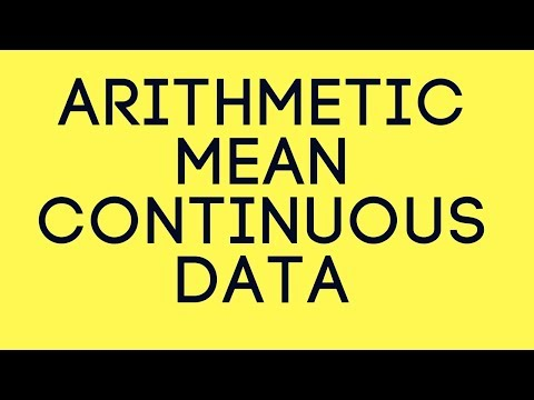 Arithmetic Mean Continuous series Statistics