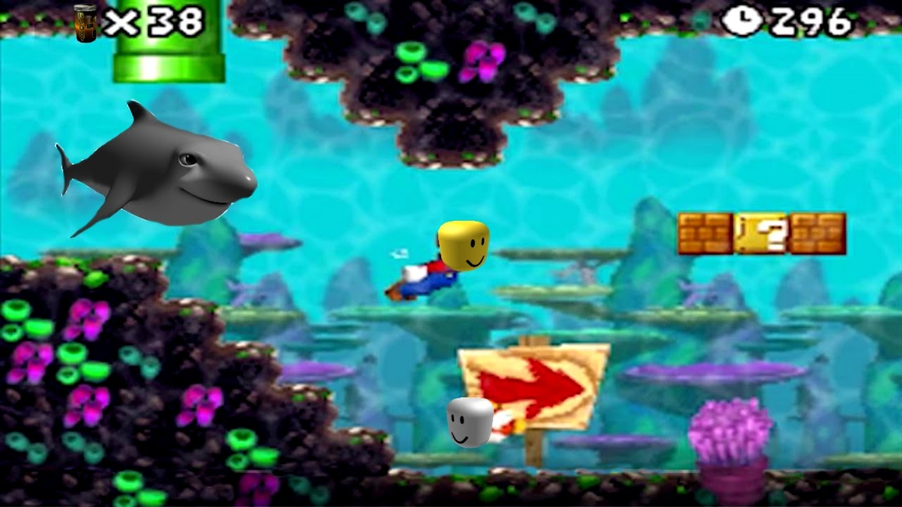 New Super Mario Bros Ds Underwater Theme But Its Roblox Death