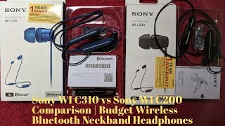 Compare Sony WI-C200 Wireless Neck-Band Headphones with up to 15