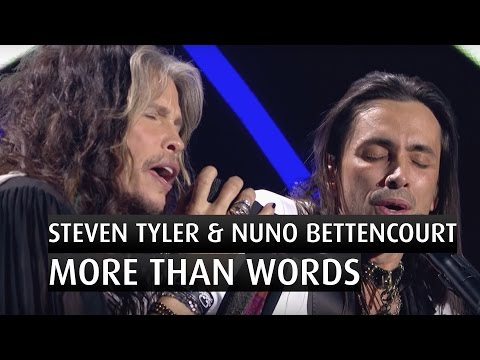 "Steven Tyler & Nuno Bettencourt ""More than words""  - The 2014 Nobel Peace Prize Concert"