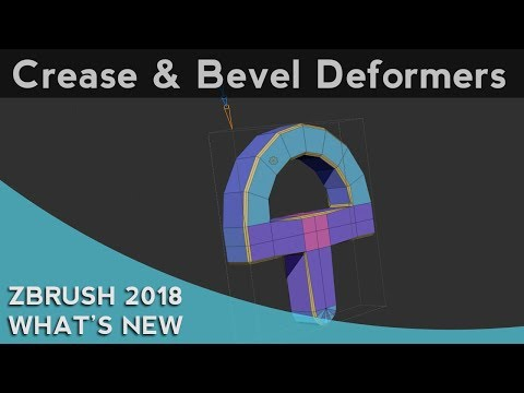 030 ZBrush 2018 Crease And Bevel Deformers