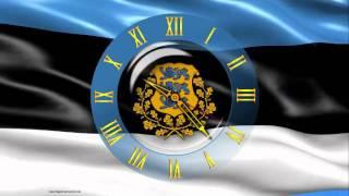 Screensaver - animated flag of Estonia, with the clock - CLOCK FLAG ESTONIA