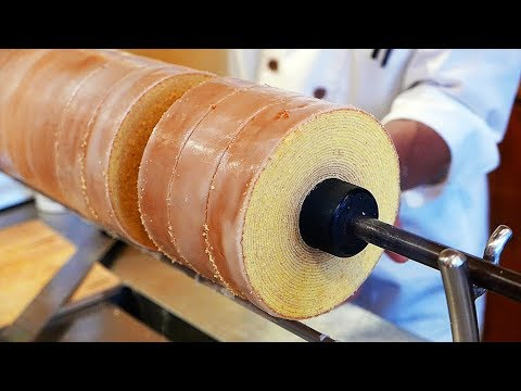 Japanese Street Food - LAYERED BUTTER CAKE Belgian Waffles Japan