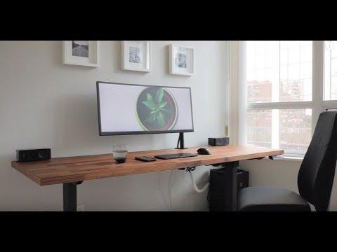 #5 DIY Dream Desk Setup   Clean Modern Wood Design by David Zhang