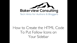 How to Create HTML Code to Put Follow Icons on the Sidebar in Wordpress