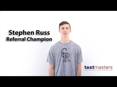 Stephen Russ - Testmasters Referral Champion! ($1,000)