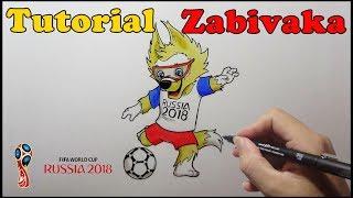 Como Desenhar Zabivaka Mascote da Copa 2018 Russia - How to Draw Cup