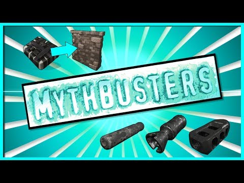 Rust Academy: MYTHBUSTERS #7 (4 WALLS WITH 1 C4, COLLATERAL DAMAGE, REDUCED ATTACHMENT DAMAGE)