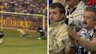 Real Madrid crowd standing ovation to Maradona,Ronaldinho,Iniesta at Santiago Bernabeu