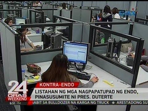 24 Oras: Listahan ng mga nagpapatupad ng endo, pinasusumite ni Pres. Duterte