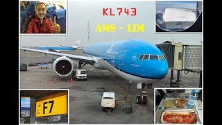 KLM B777  Full Flight Experience: KL743 Amsterdam to Lima