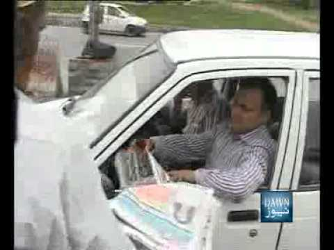 News Package - Akhbar Farosh - Newspaper Seller Selling Newspaper at Traffic Signal - Islamabad
