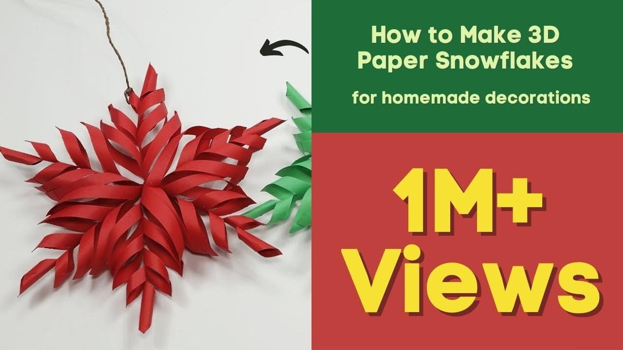 3d snowflake diy tutorial how to make 3d paper for 3d christmas decoration