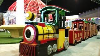 SERU!! Badut Teletubbies Naik Bus Tayo The Little Bus Tayo Kereta Mini Gandeng Odong-Odong Di Gofun