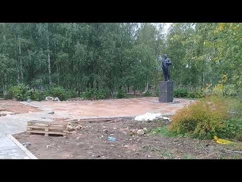 Вытегра. Вологодская область. Благоустройство набережной и строительство ККЗ Волго-Балт.август 2019