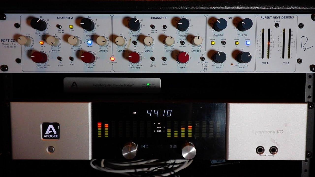 Rupert Neve Designs Portico II Master Buss Processor Demo - YouTube