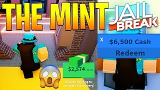 NEW MINT ROBBERY UPDATE IN JAILBREAK FULL REVIEW! + NEW CODE! (Roblox)