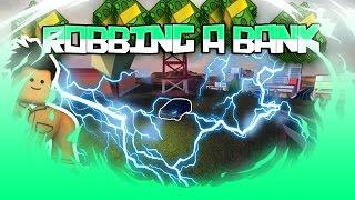 ROBLOX JAILBREAK ROBBING A BANK
