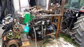 Old Saviem diesel engine first run