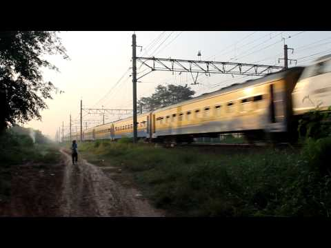 CC 203 class Kereta Api indonesia with Purwakarta Local Train Travel Video