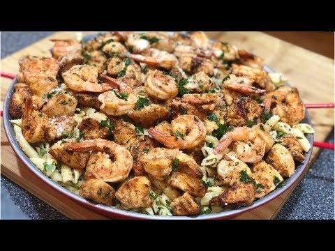 Shrimp & Chicken Scampi !!!