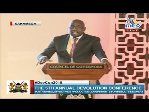Senator Kipchumba Murkomen's speech at the Devolution conference