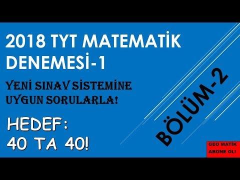 TYT MATEMATIK DENEMESI-1 (BÖLÜM-2)
